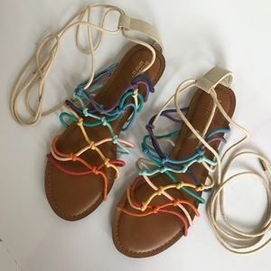 Mossimo Rainbow Lace-up Sandals